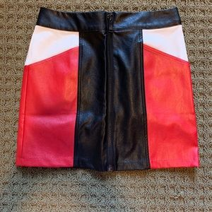 UO faux leather skirt
